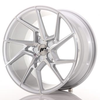 Japan Racing Wheels - JR-33 Silver Machined (20x10 inch)