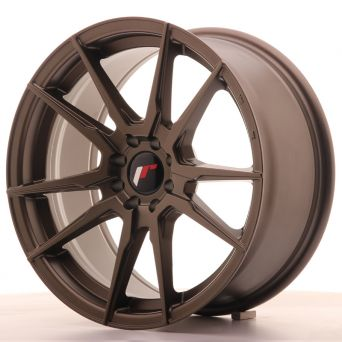Season Sale - Japan Racing Wheels - JR-21 Matt Bronze (17x8 inch)