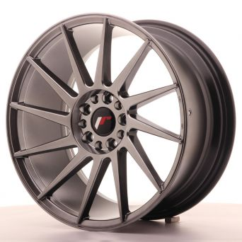 Season Sale - Japan Racing Wheels - JR-22 Hiper Black (18x8.5 inch)