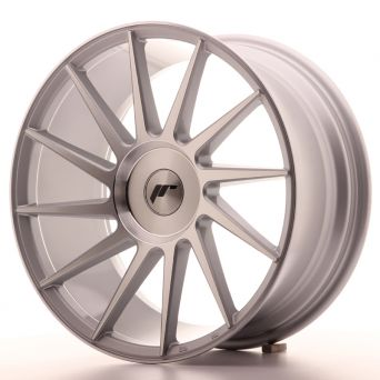 Season Sale - Japan Racing Wheels - JR-22 Silver Machined (18x8.5 inch)