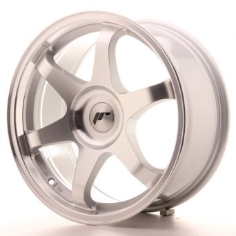 Season Sale - Japan Racing Wheels - JR-3 Silver Machined (17x8 inch)