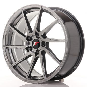 Japan Racing Wheels - JR-36 Hyper Black (19x8.5 inch)
