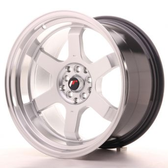 Japan Racing Wheels - JR-12 Hyper Silver Polished Lip (18x10 Zoll)