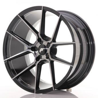 Japan Racing Wheels - JR-30 Glossy Black Brushed Face (20x10 inch)
