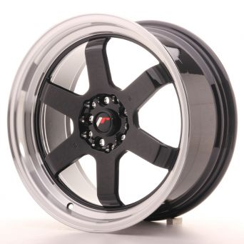 Japan Racing Wheels - JR-12 Glossy Black Polished Lip (17x8 inch)
