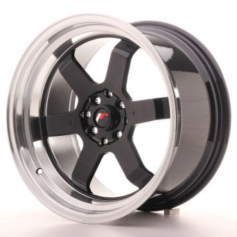 Japan Racing Wheels - JR-12 Glossy Black Polished Lip (17x9 inch)