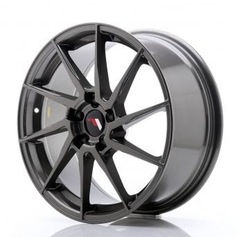 Japan Racing Wheels - JR-36 Hyper Gray (18x8 inch)