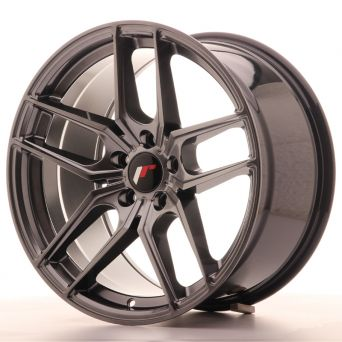 Season Sale - Japan Racing Wheels - JR-25 Hiper Black (18x9.5 inch)