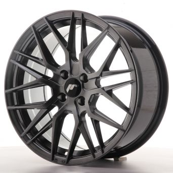Season Sale - Japan Racing Wheels - JR-28 Hyper Black (17x8 inch)