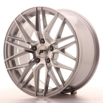 Season Sale - Japan Racing Wheels - JR-28 Silver Machined (18x8.5 inch)