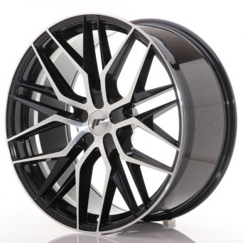 Black Friday Sale - Japan Racing Wheels - JR-28 Glossy Black Machined (22x10.5 Zoll)