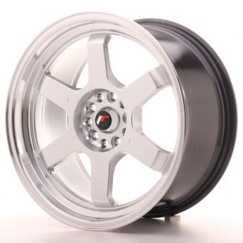 Japan Racing Wheels - JR-12 Hyper Silver Polished Lip (18x9 inch)