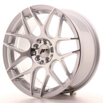 Japan Racing Wheels - JR-18 Silver Machined (16x8 inch)
