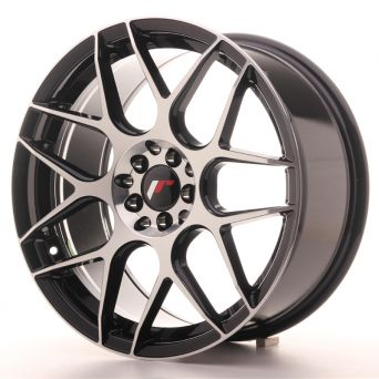 Japan Racing Wheels - JR-18 Black Machined (17x8 inch)