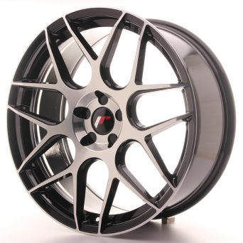 Japan Racing Wheels - JR-18 Glossy Black Machined (20x8.5 Zoll)
