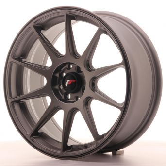 Japan Racing Wheels - JR-11 Matt Gun Metal (17x7.25 inch)