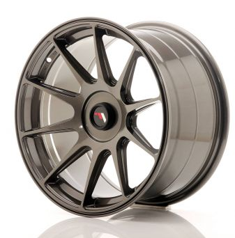 Japan Racing Wheels - JR-11 Hyper Black (17x9 inch)