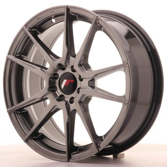 Japan Racing Wheels - JR-21 Hyper Black (17x7 inch)