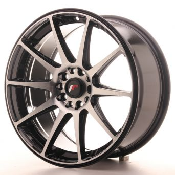 Japan Racing Wheels - JR-11 Black Machined (18x8.5 Zoll 5x100/108 ET35)