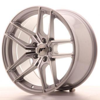 Japan Racing Wheels - JR-25 Silver Machined (18x9.5 inch)