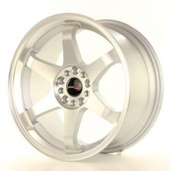 Japan Racing Wheels - JR-3 Matt Silver Machined (18x8 inch)