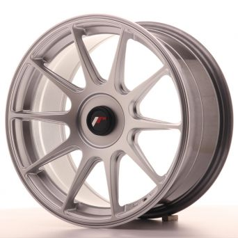 Japan Racing Wheels - JR-11 Hyper Silver (17x8.25 inch)