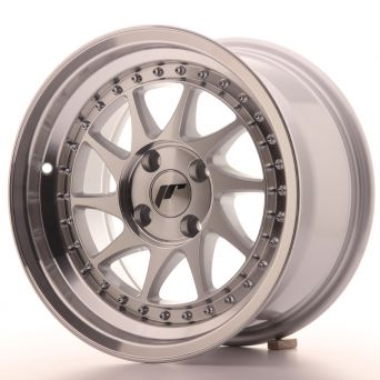 Japan Racing Wheels - JR-26 Machined Silver (15x8 inch)