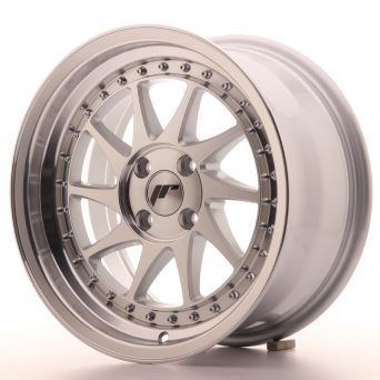 Japan Racing Wheels - JR-26 Machined Silver (16x8 inch)