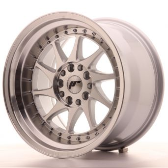 Japan Racing Wheels - JR-26 Silver Machined (17x10 inch)