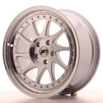Japan Racing Wheels - JR-26 Silver Machined (18x8.5 inch)