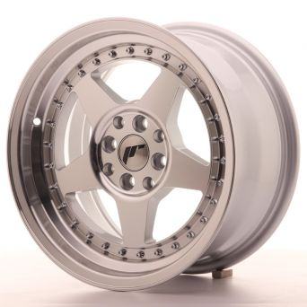 Japan Racing Wheels - JR-6 Silver Machined (16x8 inch)