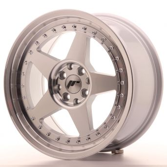 Japan Racing Wheels - JR-6 Silver Machined (17x8 inch)