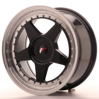 Japan Racing Wheels - JR-6 Glossy Black (17x8 inch)