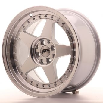 Japan Racing Wheels - JR-6 Silver Machined (17x9 inch)