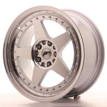 Japan Racing Wheels - JR-6 Silver Machined (18x8.5 inch)