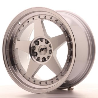 Japan Racing Wheels - JR-6 Silver Machined (18x9.5 inch)