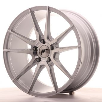 Japan Racing Wheels - JR-21 Silver Machined (18x8.5 inch)