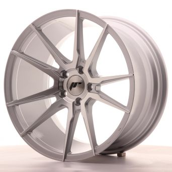 Japan Racing Wheels - JR-21 Silver Machined (18x9.5 inch)